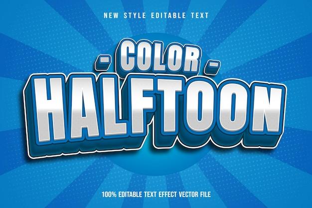 Цветной полутоновый редактируемый текстовый эффект мультяшном стиле комиксов
