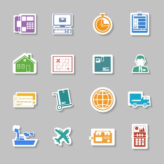 Color logistic service sticker