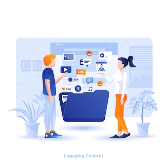 Color modern illustration  - engaging content