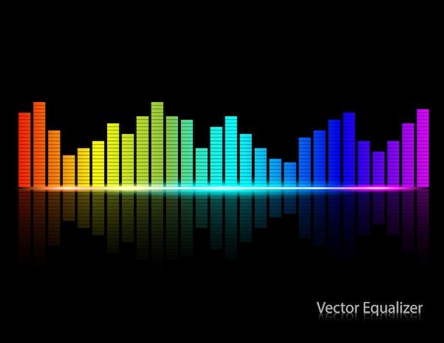 Color music equalizer