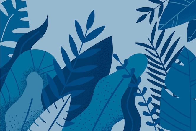 2020 년 야자 나뭇잎 배경 색상