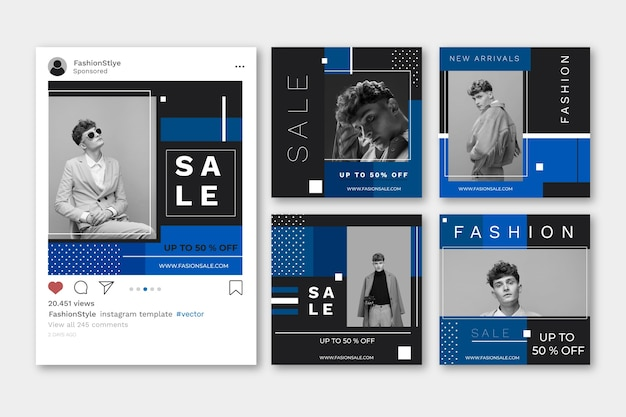 게시물 템플릿-2020 년 소셜 미디어 판매의 색상