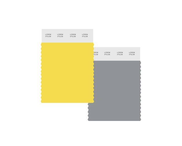2021年の色。灰色と黄色のグラフィックデザイン2021