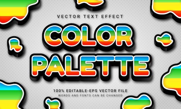 Color palette 3d text style effect