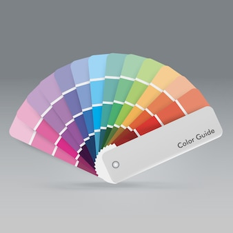 Color palette guide for print guide book for designer