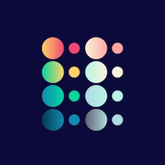 カラーパレットデザインカラフルなグラデーションイラスト