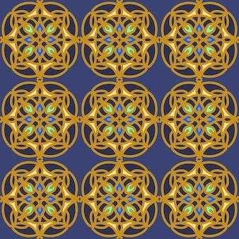 인쇄용 오리엔탈 스타일의 색상 패턴. 고급스러운 장식