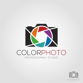 Color photo logo template