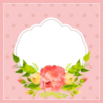 Color of pink frame on sorry card with flower.