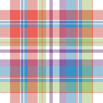 Color pixel check plaid seamless pattern