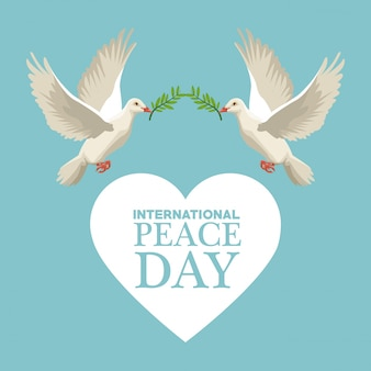 Color poster international peace day