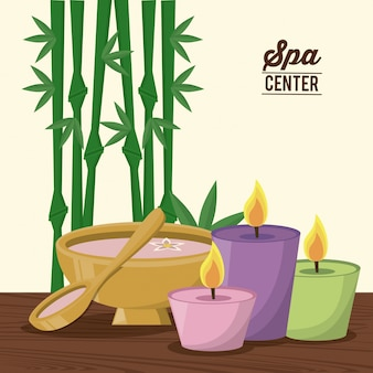 Color poster of spa center