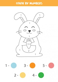 Color rabbit by numbers.
