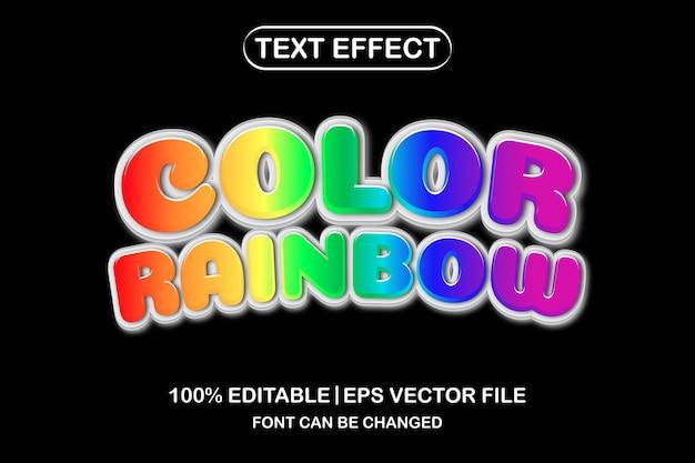 Color rainbow 3d editable text effect