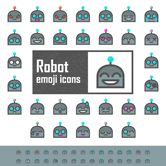 Color robot emojis
