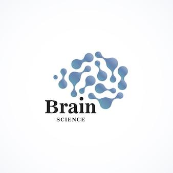 컬러 라운드 모양 벡터 아이콘 크리에이 티브 두뇌 로고 템플릿 라운드 과학 기술 로고 타입 단순