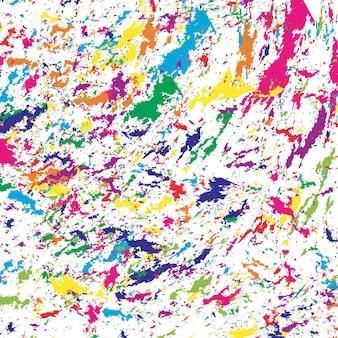 컬러 스플래시. 페인트 브러시 획의 다채로운 질감입니다. 그려진된 수채화 패턴입니다.