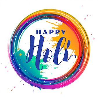 Color splash frame holi festival background