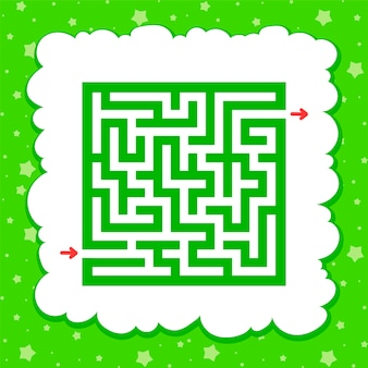 Color square maze. game for kids. puzzle for children.