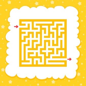 Рабочий лист цветного квадратного лабиринта для детей