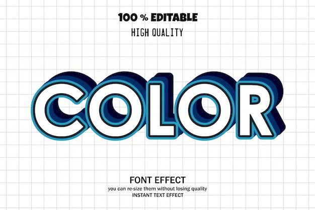 Color text, editable font effect