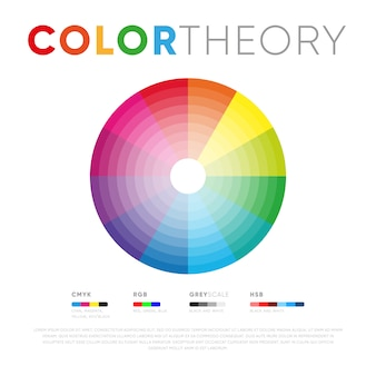 Color theory template with circle