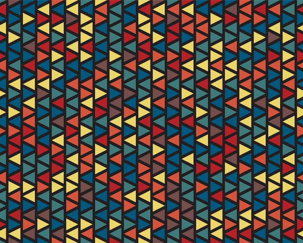 Color triangles seamless pattern modern style