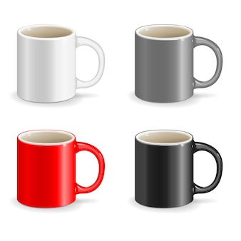 Color vector cup object drink ceramic art