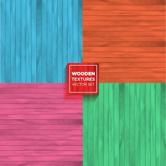 Color vector set of realistic wooden textures.