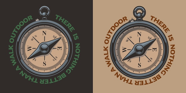 Color vintage  illustration of a compass. perfect for logos, shirt prints and many other