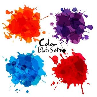 Color watercolor blot set