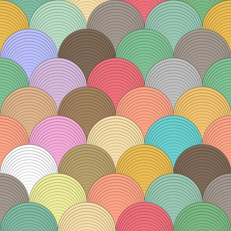 Картина волны цвета безшовная на искусстве вектора.