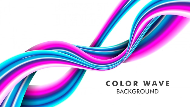 Color wave on white