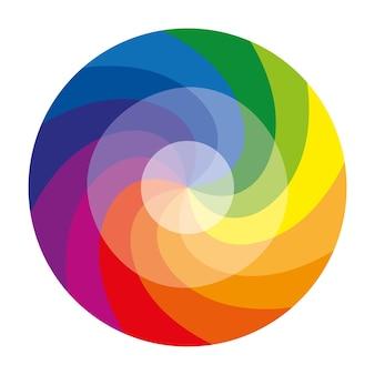 12가지 색상의 색상환 또는 색상 원