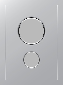 Color white button icon on gray color background