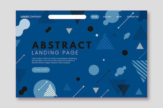 Color of the year 2020 geometric landing page template