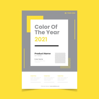 Color of the year 2021 flyer template Premium Vector