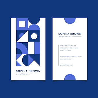 Color of the year business card template