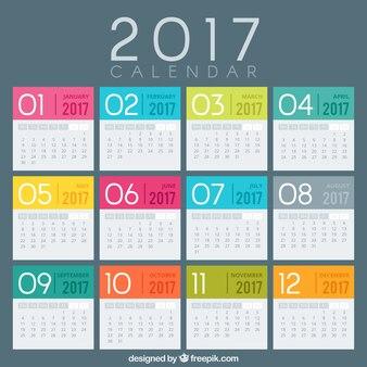 2017 Calendar Design Vector Free Download