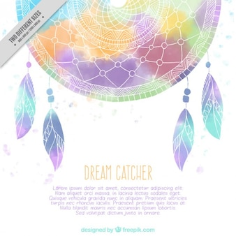 Colored abstract dreamcatcher background