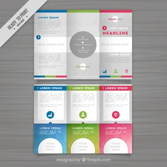 Colored abstract trifold