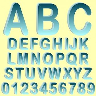 Colored alphabet design