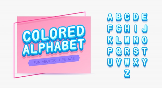 Colored alphabet template.