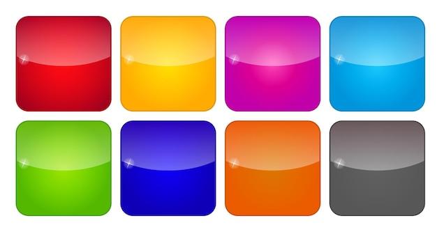 Цветные значки приложений для мобильных телефонов и планшетов, векторные иллюстрации
