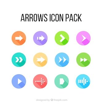 Colored arrow icons pack