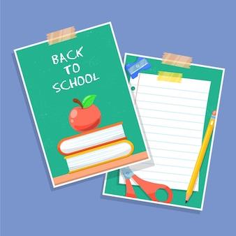 Colored back to school card template