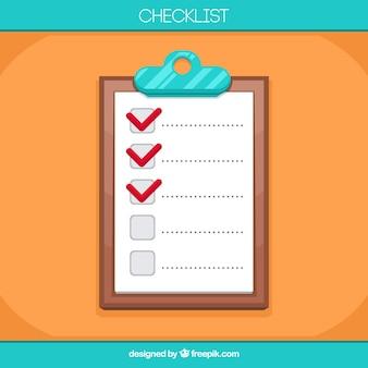Цветной фон с буфером обмена и контрольный список