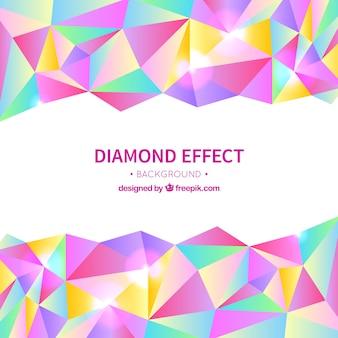ダイヤモンドの影響で着色背景