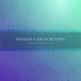 Colored background with mandalas in flat design