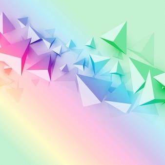 Красочный фон с 3d многоугольника треугольник формы